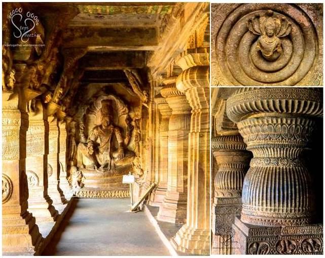Inside Badami Cave Temples