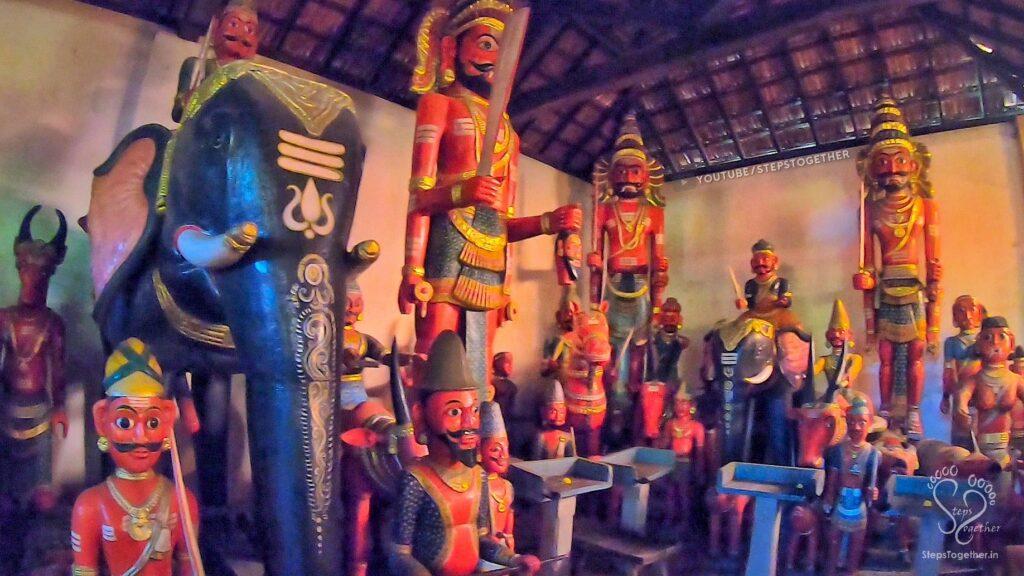 Wooden Dolls inside temple